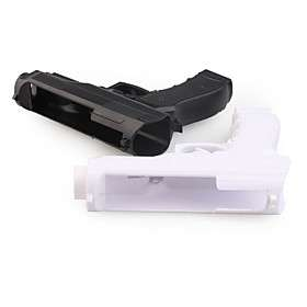 US$ 10.99   Pair of Hand Gun Controllers for Wii Remote (Black/White