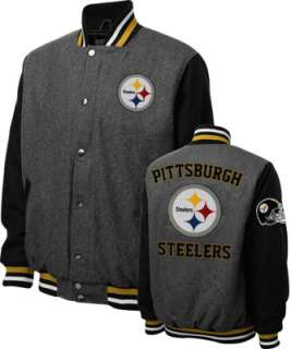 Pittsburgh Steelers Grey Wool Varsity Jacket