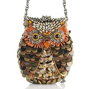Mary Frances What a Hoot Beaded Owl Handbag at HSN