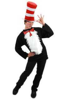 Dr Seuss Cat in the Hat T Shirt Adult Costume Kit (L/XL) for Halloween