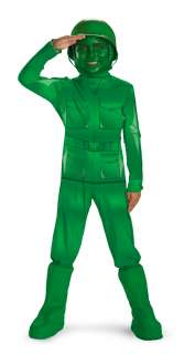 Toy Story   Green Army Man Deluxe Child Costume   Includes jumpsuit