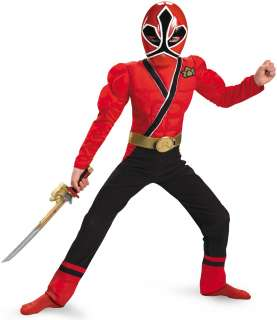 Power Rangers Samurai   Red Ranger Muscle Child Costume   Includes