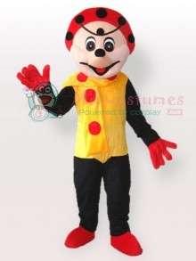 Spotty Clown in Yellow Dress Adult Mascot Costume