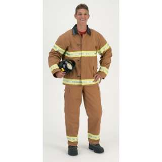 Adult Fire Fighter Costume with Helmet   Fireman Costumes   15AR33