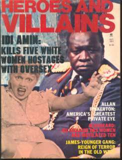 wear 66 pages crime magazine with stories on idi amin henry starr