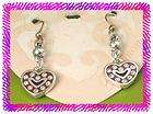 BRIGHTON Silver SWEET HEART French Wire EARRINGS NWCard