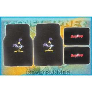 4pc Looney Tunes Road Runner Front and Rear Floor Mats for