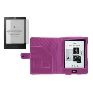 Navitech Pink Leather Flip Carry Case & Anti Glare Screen