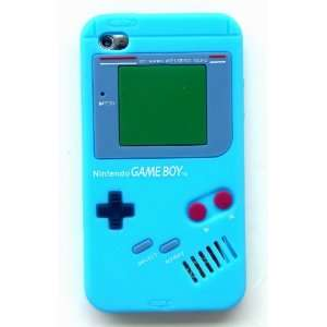 IPOD TOUCH 4 4G 4TH GENERATION SILICON AQUA BABY BLUE GAMEBOY CASE