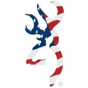 Browning Official Buckmark Decal Red, White & Blue Sports