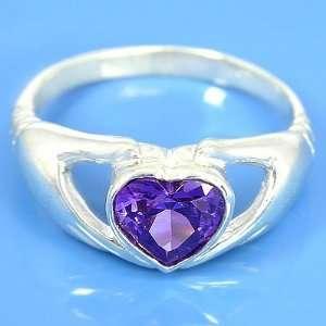 3.90 grams 925 Sterling Silver Heart Gemstone Engagement
