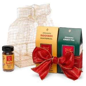 African Red Tea Holiday Gift Basket (Organic Green Tea, Organic