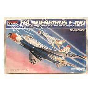 48 THUNDERBIRDS F 100 Plastic Airplane Model Kit (Monogram 5442) 1985