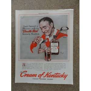 Cream of Kentucky Whiskey,Vintage 40s full page print ad