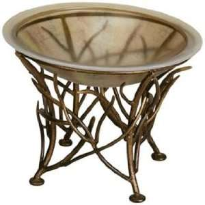 Center Piece Glass Bowl with Antique Gold Stand