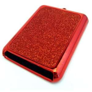Apple iPod Nano 3 3rd Gen Generation Red Sparkle Case Skin Cover Cell