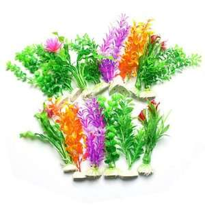 Color Plastic Plants Grass for Aquarium Fish Tank: Pet Supplies