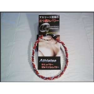 Titanium Baseball / Softball Necklace RED / White 20 INCH