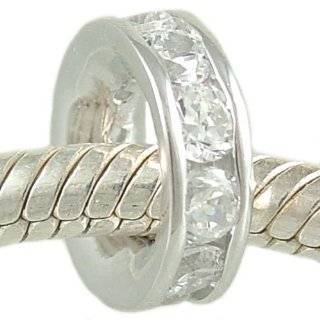 925 Sterling Silver Spacer Bead fits European Charm Bracelet Jewelry
