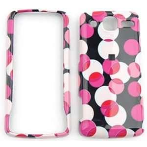 LG eXpo GW820 Muiti Pink Polka Dots on Black Hard Case