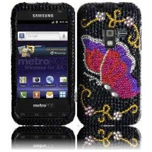 Pink Butterfly Full Diamond Bling Case Cover for Samsung