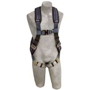 1109728 ExoFit XP Vest Style Full Body Harness, Extra Large, Blue/Gray