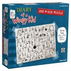 Diary of a Wimpy Kid Book Two 200 Piece Jigsaw Puzzle Toys & Games