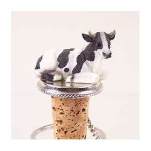 Holstein Bull Tiny One Bottle Stopper:  Kitchen & Dining