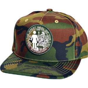 Girl Seal Hat Adjustable   Green Camo:  Sports & Outdoors