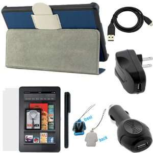 Car & Home Charger Adapter + Universal Stylus + LCD Cleaner Strap for