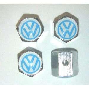 VW Volkswagen Anti theft CAR Wheel Tire Valve Stem Caps Automotive