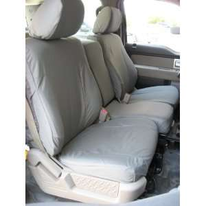 Center Console Custom Exact Fit Seat Covers, Gray Automotive Twill