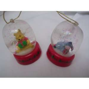Winnie the Pooh Eeyore Christmas Ornament Set of 2 ; Jelly