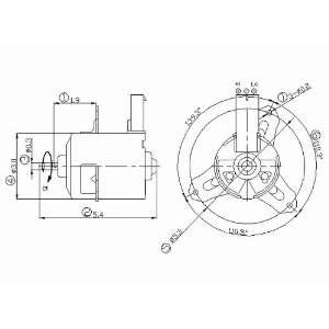 631280 Chrysler/Dodge/Eagle Replacement Condenser Cooling Fan Motor