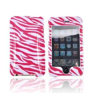 For Apple iPod Touch 2 & 3 Plastic Case HOT PINK Zebra