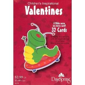 Bugs Valentine Cards for Kids with Scripture   Package of