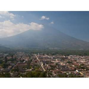 View of Antigua and Volcan De Agua, Guatemala, Central