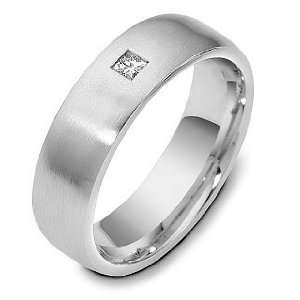 Fit Wedding Band Ring with 1 Diamond   6.25 Dora Rings Jewelry
