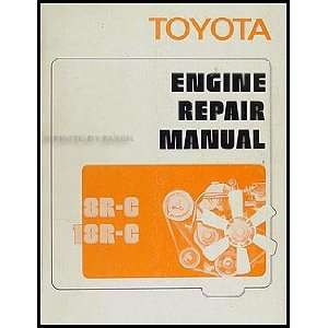 1972 Toyota Car & Truck Engine Repair Shop Manual Original