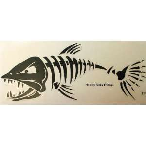 Sticky Fish Black Aggressive Bonefish Decal   4 X 10