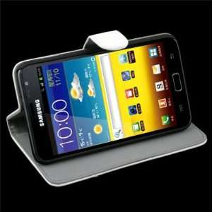 com White Flip Stand Leather Case Hard Cover For Samsung Galaxy Note