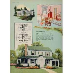 1925 Vintage Colonial House Floor Plan Franklin Bedroom