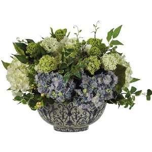 Silk Flower Arrangement on Hydrangea Centerpiece Silk Flower Arrangement  Home   Kitchen