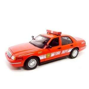Fire Chief Car Ford Crown Victoria 118 Diecast Model Toys & Games