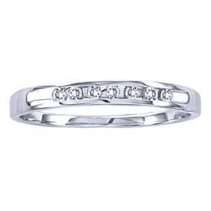 1/10 Carat Diamond 14k White Gold Wedding Ring Jewelry