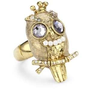 Betsey Johnson Tzarina Princess Owl Stretch Ring Jewelry