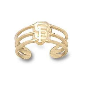 San Francisco Giants Solid 14K Gold SF Toe Ring