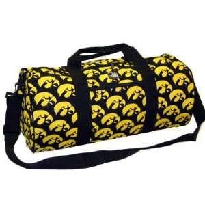 UI University of Iowa Hawkeyes Duffle Bag by Broad Bay