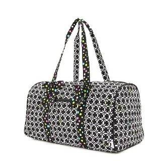 Belvah large Quilted flower & Paisley 21 Duffle Bag (Balck/white