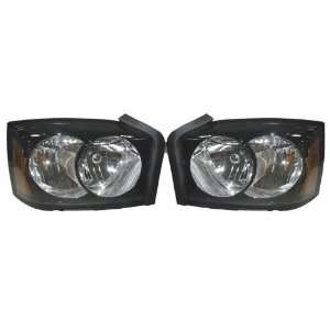 PICK UP HEADLIGHT LEFT (DRIVER SIDE) (BLK BEZEL) 2006 2007 Automotive